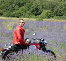 Classic Bike Esprit tour to the lavender firlds in Provence on a BSA