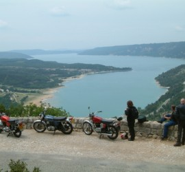 Lac St Croix at the base of the Gorges du Verdon