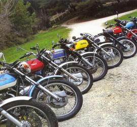 Norton, Velocette, Honda, Bsa, MotoGuzzi, Ariel, Triumph, Royal Enfield , classic motorcycle fleet at Classic Bike Esprit, St Rémy de Provence , southern France