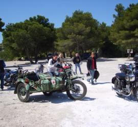 Ural sidecar on tour with Classic Bike Esprit